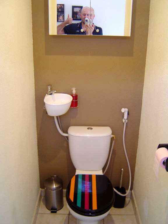 Small hand wash basin kit fitting on already installed toilets  WiCi  Mini with toilet shower. Shower toilet Gallery