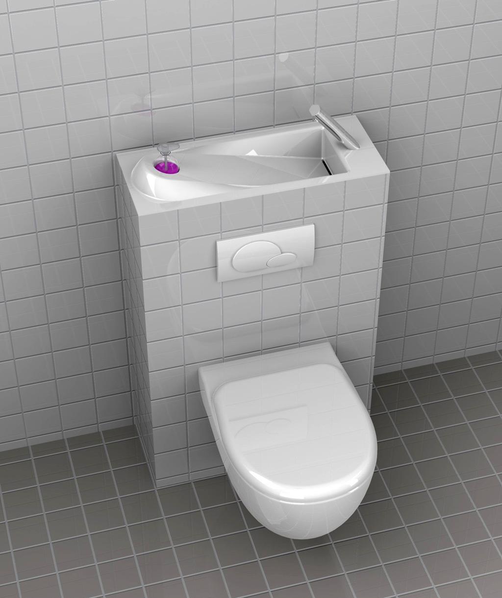 Cliquez pour agrandir - Toilette lave main integre ...