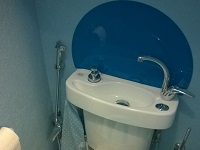 WiCi Concept wash basin kit fitting on already installed toilets with shower hose - Ms M (France - 64)