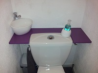 Small Hand wash basin for toilets WiCi Mini - Mr G (France - 33) - 3 of 3 (after)