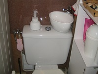 WiCi Mini small hand wash basin adaptable on existing toilets - Mr P (France - 64) - 1 of 4