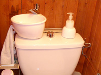 Small WiCi Mini wash basin kit fitting on already installed toilets - Ms G (France - 54)