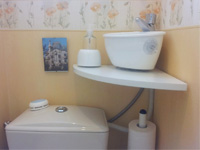 Small WiCi Mini basin fitting on already installed toilets - Mr L - 2 of 2