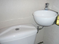 Small toilet and hand wash basin combination WiCi Mini - Mr P - 2 of 2