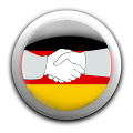 Hands with german flag