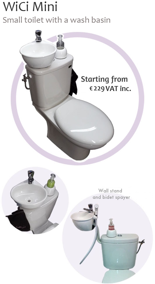 WiCi Concept : toilets and sink combo range