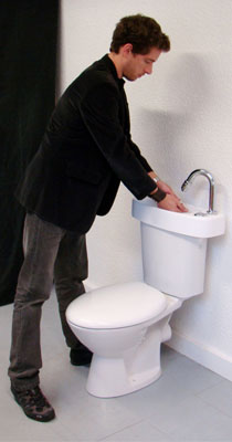 wici concept leaflets for our toilets with adaptable hand wash basin. Black Bedroom Furniture Sets. Home Design Ideas